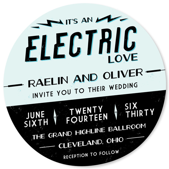 wedding invitations - Electric Love by AJCreative