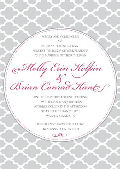 wedding invitations - Patterned Sophistication by Julia Destrampe