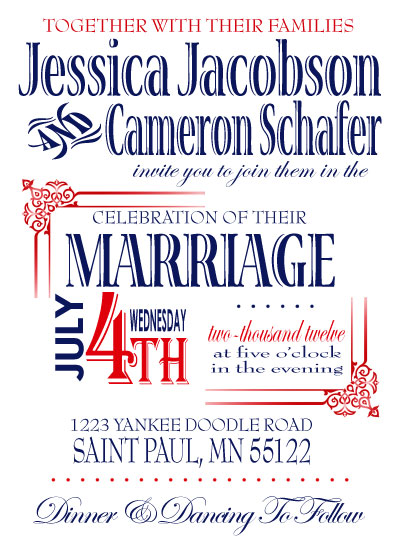 wedding invitations - chic patriotic at minted,