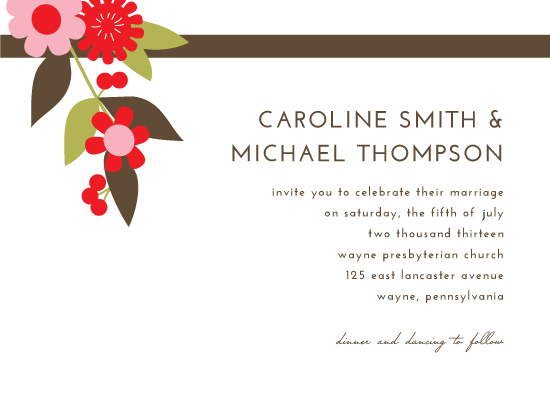 wedding invitations - Floral Cascade by Katherine Moynagh