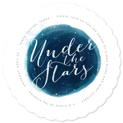 wedding invitations under the stars at minted com