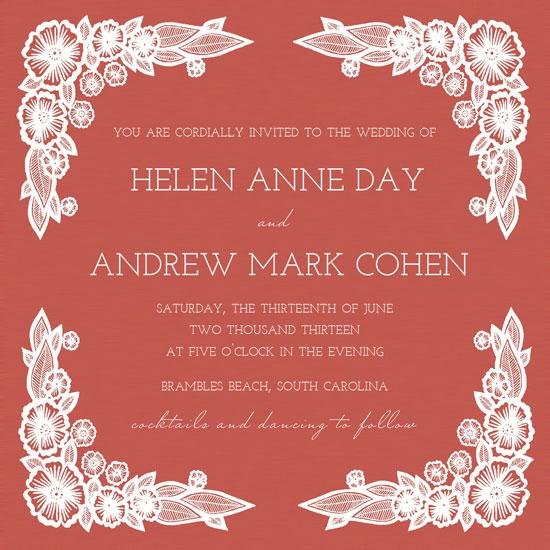 wedding invitations - Anemones by Katharine Watson