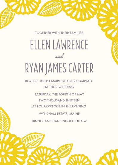 wedding invitations - Bold Block Print by Katharine Watson