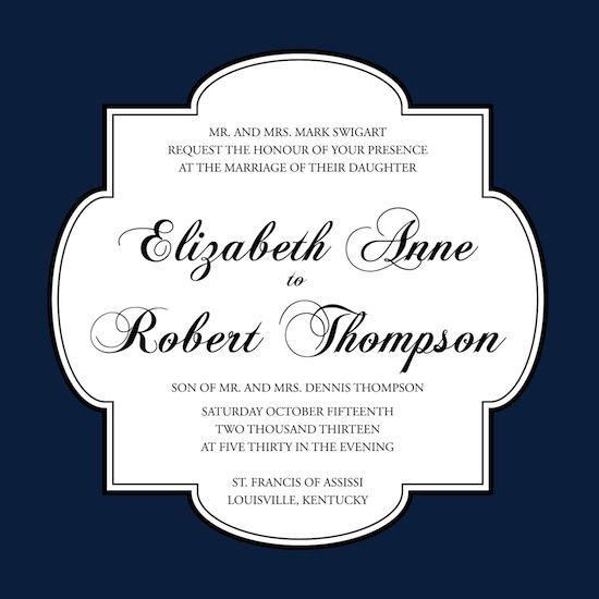 wedding invitations - Midnight Formal by Brittany Warren