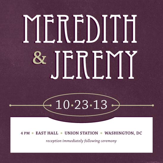 wedding invitations - United Deco by Rachel Buchholz