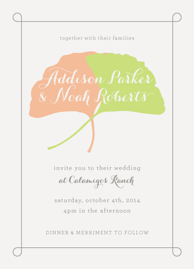wedding invitations - Ginkgo Wedding by Tim St. Clair