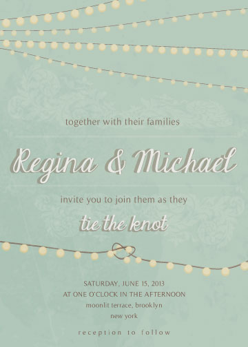 wedding invitations - Twinkling Knot by Vanessa Noe