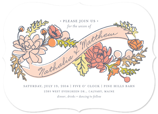 wedding invitations - Infinity Florals by Snow and Ivy