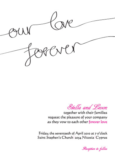 wedding invitations - Forever love by Stellina Creations