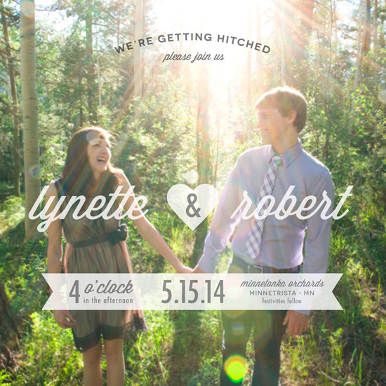 wedding invitations - Getting Hitched by Laura Bolter Design