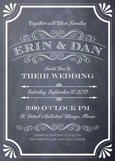 wedding invitations - A Chalkboard Marriage by Erin Deegan