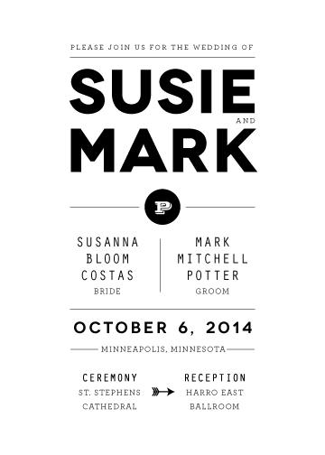 wedding invitations - modern tuxedo by Up Up Creative