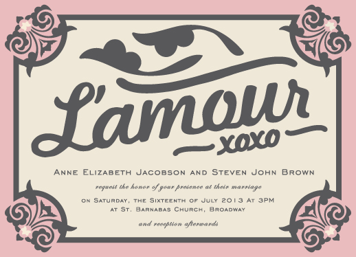 wedding invitations - L'Amour by Hendro Lim