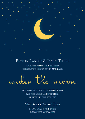 wedding invitations - Under The Moon by Haley King