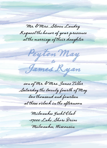 wedding invitations - Brushed Love by Haley King