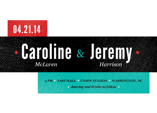 wedding invitations - Teal and Red by Rachel Buchholz