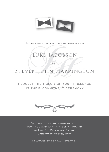 wedding invitations - Two Ties by Hendro Lim