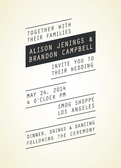 wedding invitations - Elevated Modern by Tim St. Clair