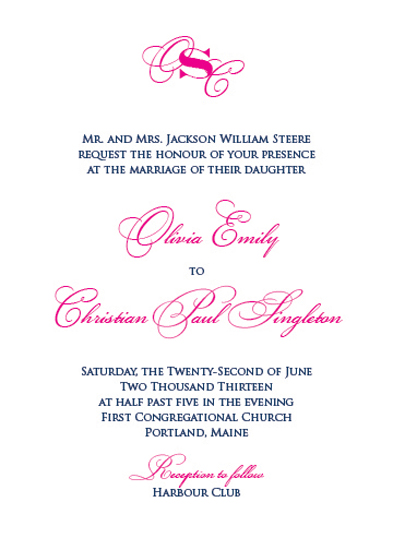 wedding invitations - New England by Letter and the Press