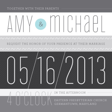 wedding invitations - Modern Gray Stripe by Sook Lee