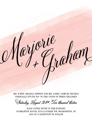 wedding invitations - Awash by Ann Gardner