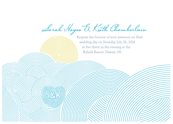 wedding invitations - Waves Amore by bumble ink