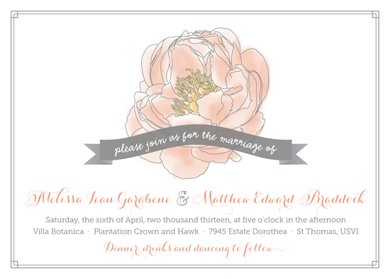 wedding invitations - Whimsical Peony by Kristen Jasper
