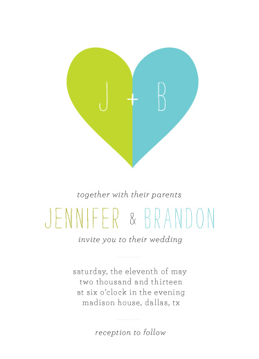 wedding invitations - United Heart by Sook Lee
