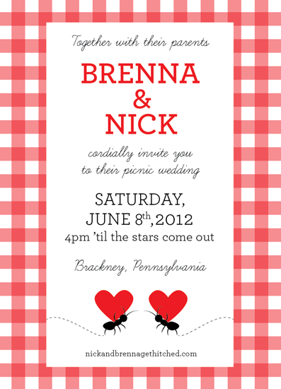 Wedding Invitations Picnic Love At Minted Com