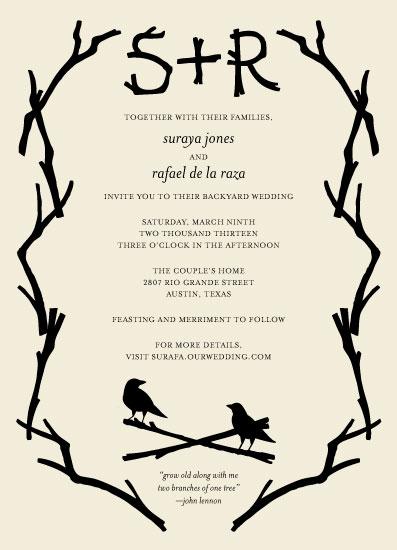 wedding invitations - twigs by Liza Ferneyhough