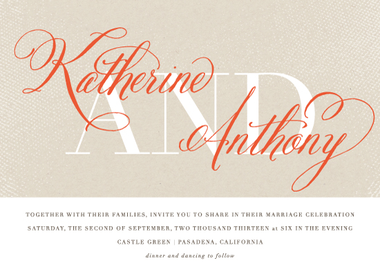 wedding invitations - Scripted by Lehan Veenker