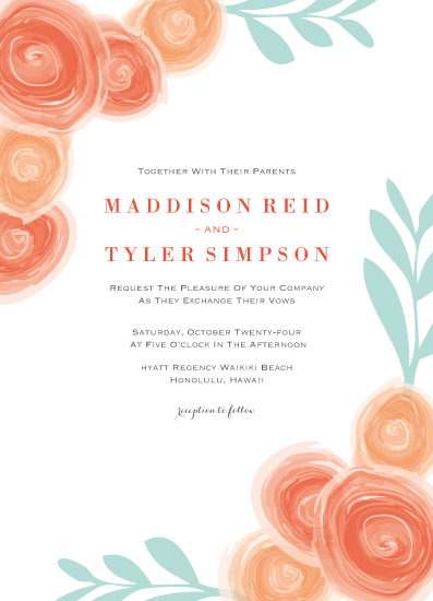 wedding invitations - Rose Buds by Kampai Designs