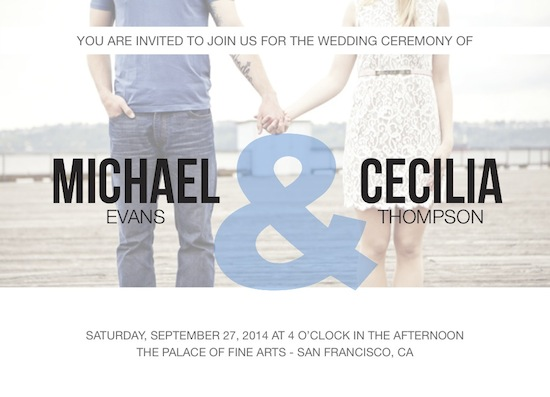 wedding invitations - Ampersand by Jessica Chao