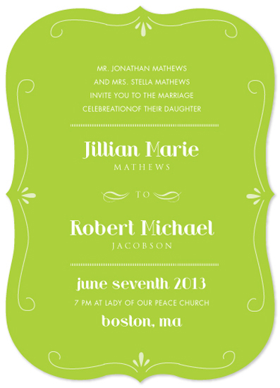 wedding invitations - Green Envy by Ana Gonzalez