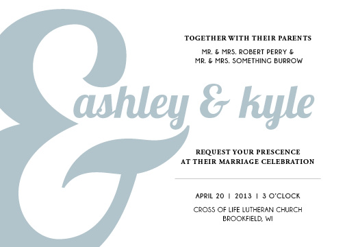 wedding invitations - you AND me by Haley King
