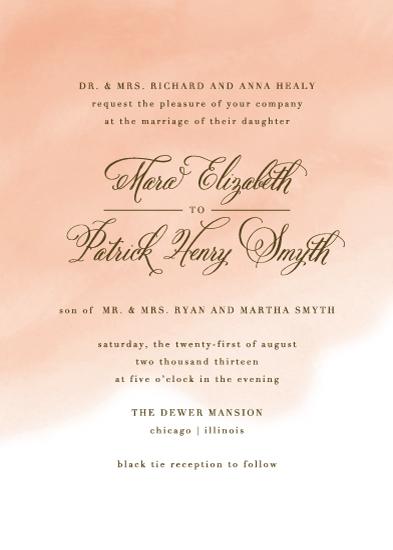 wedding invitations - Watercolor Wash by Lehan Veenker