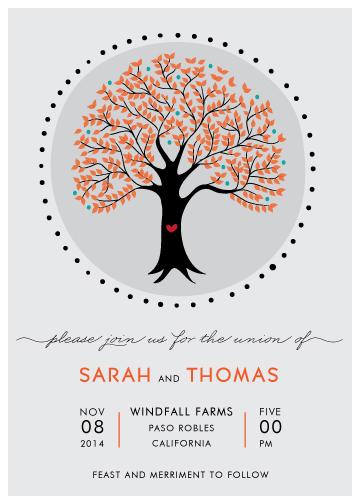 wedding invitations - Joyful Tree by Monica Schafer
