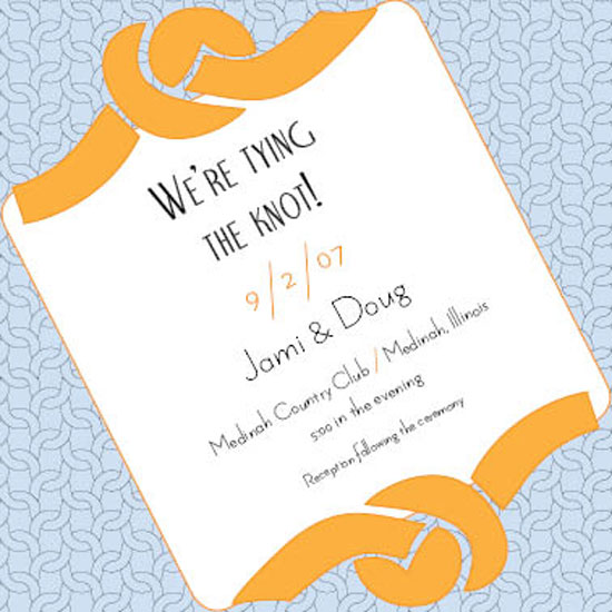 wedding invitations - Tying the Knot by Jami Omachel