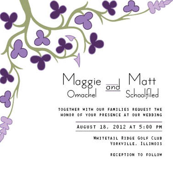wedding invitations - Purple Tree by Jami Omachel