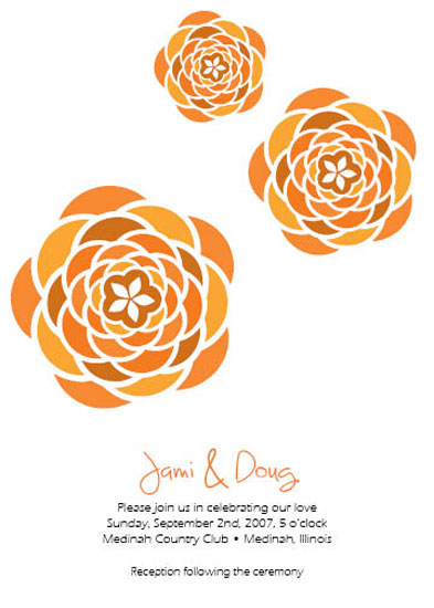 wedding invitations - Three Flowers by Jami Omachel