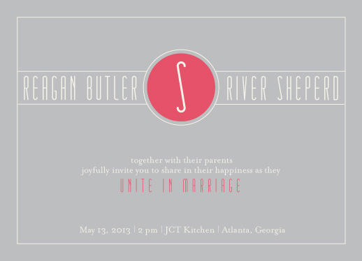 wedding invitations - Deco Day by Ashley Ottinger