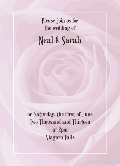 wedding invitations - Rose by Iget2design2day