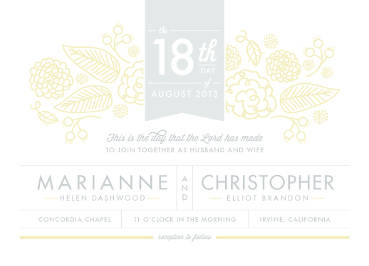 wedding invitations - sense and sensibility by Frooted Design