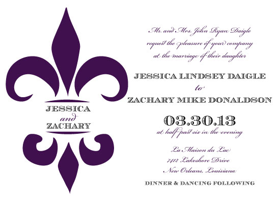 wedding invitations - a marry fleur de lis at minted, Wedding invitations