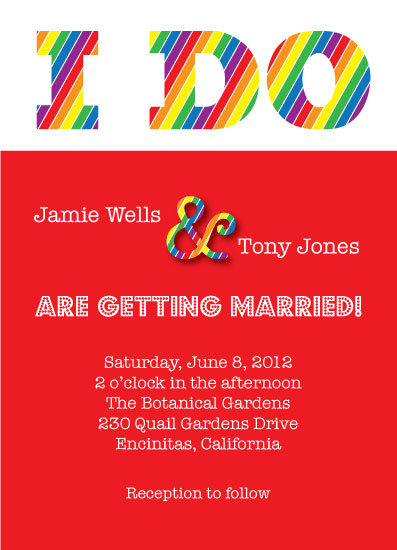 wedding invitations - Rainbow Pride by Summer Smith