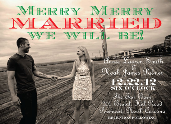 wedding invitations - Merry Merry Married by Summer Smith