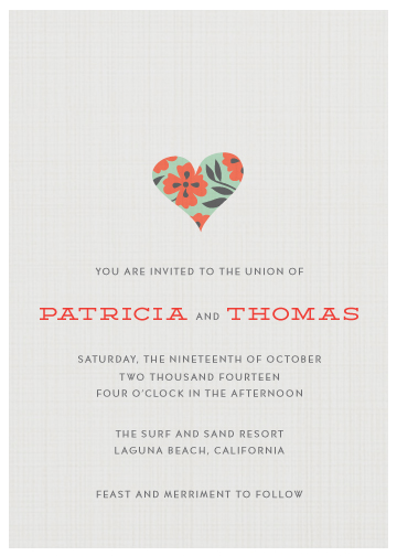 wedding invitations - Big Heart by Monica Schafer