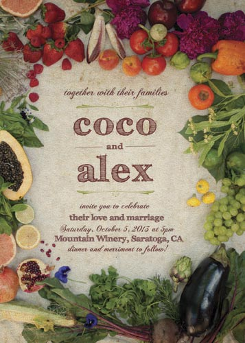 wedding invitations - Sweet Harvest Bounty by erin gleeson