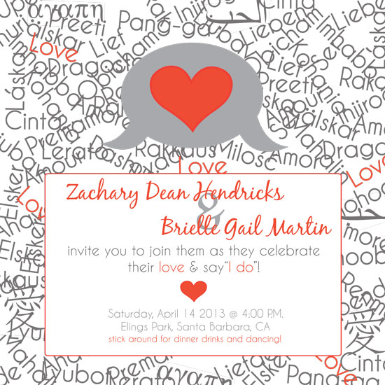 wedding invitations - Modern Love Language by SweetBirch Designs