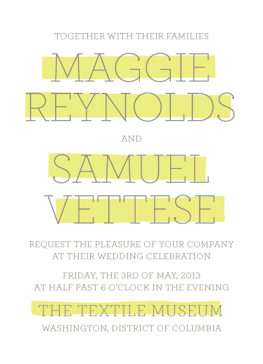 wedding invitations - Big Highlight by The Social Type